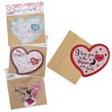 Valentine Puzzle Card 4ast Heart Shape W/envelope 12pcmdsg Strip/val Pbh