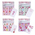 Valentine Cards W/stickers 20ct 4ast On 12pc Mdsgstrip Val Pbh Dblsided/sheet Size 2.5x4.125in