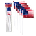 Flag American Mini 6pk Plastic **13in L Patriot Polybag/header