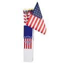 Flag American 12x18 On 32 Inch Wood Pole In 48pc Pdq