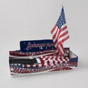 Flag American Polyester 18x12 0n 24in Plst Stick In 96pc Pdq