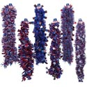 Garland Tinsel Patriotic 9ft 6 Styles Patriot Barbell Card