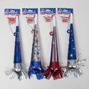 Horn On Chain Patriotic Prints 4asst Designs Patriotic Barbell