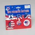 Buttons Patriotic 6pk Asst Size Per Pack On 12pc Display Strip Patriotic Tie On Card