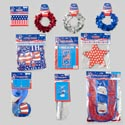 Party Decor Combo Patriotic 8asst Banners/grlnd/cntrpc/door Polybag Header/barbell