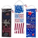 Banner Patriotic Foil 10x30in 3ast Coated Nonwoven Vertical Hanging Decor/patriotic Ht