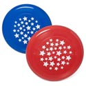Flying Disc 9in Red Or Blue W/ Star Print In 48pc Pdq Upc Label