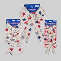 Bow Patriotic 3asst Sizes Vintage Look 1/2/3pks Polyester W/backercard