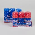Bubbles Patriotic 3pk/4oz Bottle Shrink Wrap Red/blue