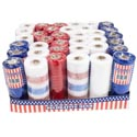 Mesh Roll Craft/wrap Patriotic 6inx5yds 4 Asst/36pc Pdq Patriotic Shrink W/label