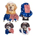 Pet Patriotic Dressup 4ast Bowtie/collar/hat Polyester Animal Photo Cutout Artwork