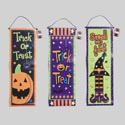 Banner Coated Nonwoven 10x30in 3asst Halloween Designs Ea/htag