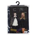 Cape Adult Costume Black 56in W/puffed Collar Satiny Poly Pvc Bag/insert Card/plst Hanger