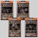 Signs 2pk Warning/beware Paper 15x11in Witch/zombie/pirate/doll Halloween Header Card