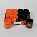 Mug Plastic Halloween 2ast Designs In 12pc Tray Hlwn Label