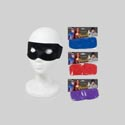 Mask Costume Fabric 4ast Colors Red/blue/purple/black Pbh