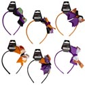 Headband Halloween 6ast Style Bows/black N Orange Clr Combos Halloween Barbell Card