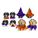 Pet Halloween Costume 8asst Hats/bow Ties/collars Animal Photo Cutout Artwork