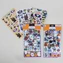 Stickers Halloween 131pc 3ast In One Pack Bubble/laser/basic 12pc Mdsg Strip Hlwn Opp/hdr