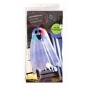 Ghost 18in Colorchange Light-up Hanging Paper Lantern W/ghost Cover Hal Pb W/illust Insert Crd