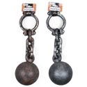 Ball And Chain Plastic 15in Bronze Or Silver/hall Barbellcrd
