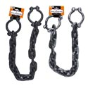 Chain W/handcuffs 38in Halloween Prop Black And Silver/barbellcrd