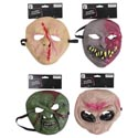 Mask Halloween Spooky 6ast Rubber/tie On Card
