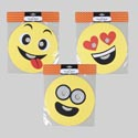 Mask Novelty 3ast Emoticon Faces 10in Dia/pbh