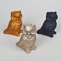 Owl Foam Glittered 7in H 3ast Colors Harvest Ht Gold/black/copper