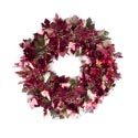 Harvest Tinsel Wreath 11in W/leaf Icons/ Harvest Ht