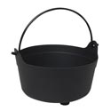 Cauldron Candy Bowl Black 9.5x6in Upc Label