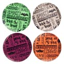 Dessert Plate Halloween 8in 4ast Script Greeting In 36pc Pdq Upc Label