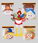 Cutout Harvest Jointed 36in 6asst Pilgrim/turkey/scarecrow Gov Harvest Polybag/header