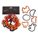 Cookie Cutters 6pk Halloween Plstc Mesh Bag 12pc Mdsg Strip Halloween Hangtag