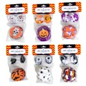 Baking Cup Kit Halloween 24-2in Cups/24 Plastic Pks/6ast 12pc Merchstrip Hall Pb Headcard