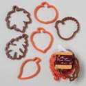 Cookie Cutters 6pc Harvest Plstc 3.75x4.25x.43h Orng/brwn Harvest Hangtag In Mesh Bag