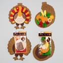 Harvest Foam Craft Kit Turkey Or Cornucopia 16-23pc Set Gov Logo Pbh