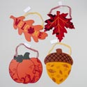 Glitter Plaques Harvest 4asst 8.5-12in Mdf Wood Gov Harvest Hangtag