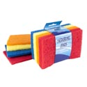 Scouring Pad Flat 8pc 4x6in Asst Color Per Pk Cleaning Sleve