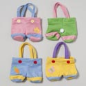 Bunny Pants Treat Bag 3asst Colors On 12pc Merchstrip Gov Easter Hangtag