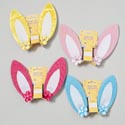 Bunny Ear Clip On 5in Plush Velvet Edge 4 Colors Gov Easter Barbell