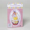 Basket Wrap Mesh 36indiax52in L 3ast Pastel Clrs/12pc Mdsgstrip Easter Pb Insert Card