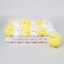 Chick Decor Feathered 2ast White/yellow In 24pc Pdq