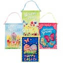 Banner Easter Hanging Wall Decor 4asst Coated Nonwoven 16.5x13.5 4cprint Pattern Easter Ht