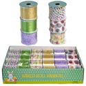Ribbon Wire Spring/easter 6ast 2.5in X 9ft (3yds) 24pc Pdq