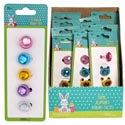 Ring Set 5pk Jumbo Gems Basket Stuffer Multicolor In 24pc Pdq Plastic W/insert Card