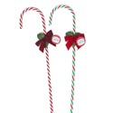Candy Cane Twist 30.5 X 5/8in W/bow&holly 2ast Christmas Ht