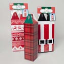 Wine Bottle Box Single 3ast Printed Christmas Designs Corrugated Paper Christmas Pbh