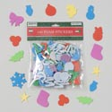 Stickers Foam 140ct Christmas Shapes Multicolor 12pc Mdsgstrip Gov Xmas Pbh