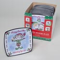 Dessert Plate Square Melamine 8.5in 4ast Elf Greetings 36pcpdq Gov Christmas Upc Label